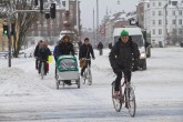 "Hearty ""Copenhagers"" on their way to work..."