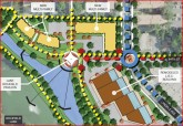 Proposed site plan for phases I, II, and III of the Lyndale Garden Center project.