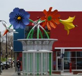 The Blossoms of Hope bus shelter in North Minneapolis.  Image provided by Minnesota Public Radio.