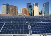 Solar PV array on the rooftop of the Minneapolis Convention Center